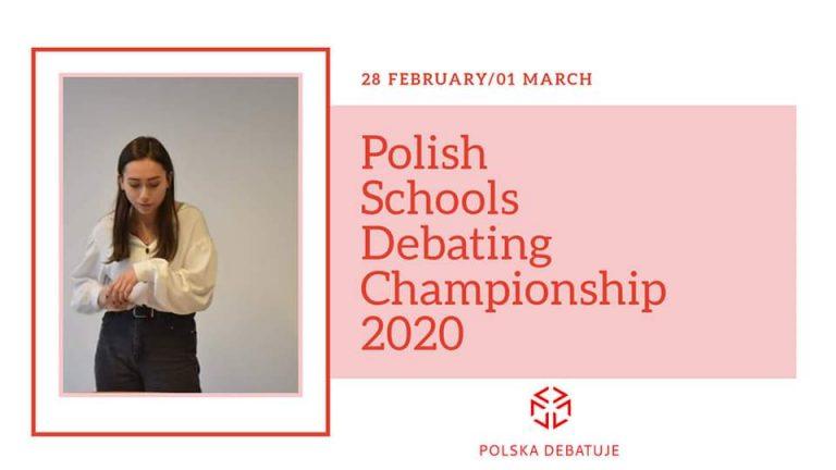 Rejestracja na Polish Schools Debating Championship 2020