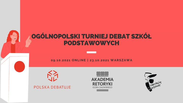 Ogólnopolski Turniej Debat Szkół Podstawowych – rejestracja ruszyła!
