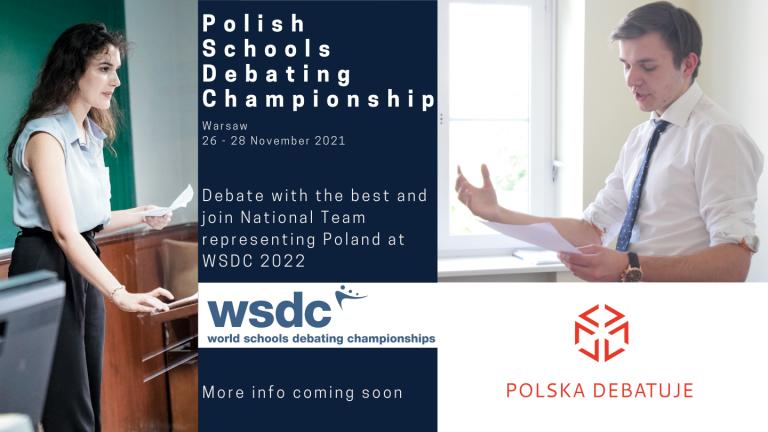Rejestracja na Polish Schools Debating Championship 2021 trwa!